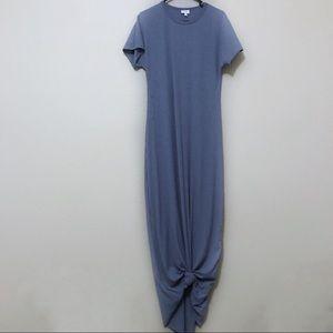 LulaRoe Maria Maxi Dress Ribbed Dusty Blue
